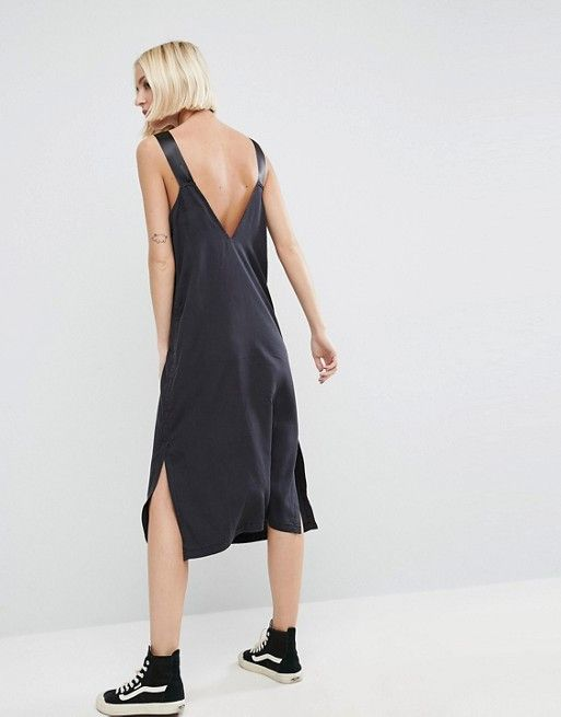 ASOS Denim Slip Dress With D Rings