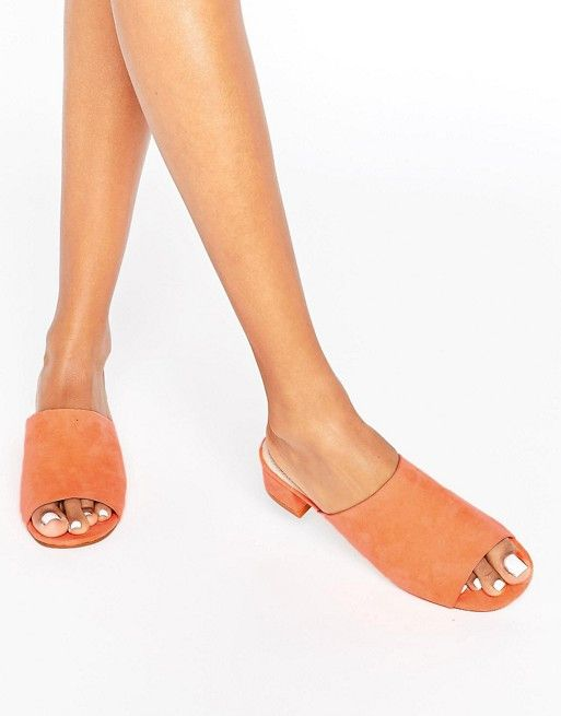 ASOS Fiddle Mules Orange