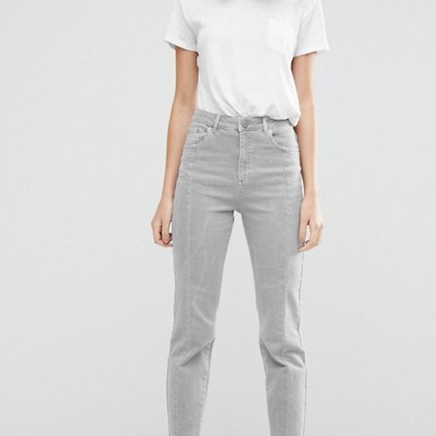 Deconstructed Pencil Straight Leg Jeans In Husk Wash