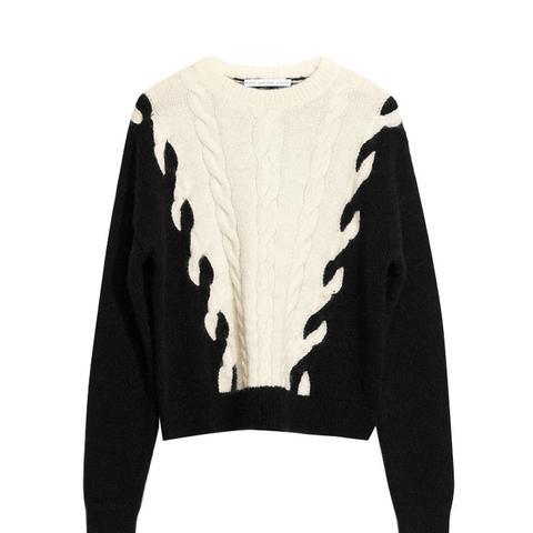Chain Stitch Knit Sweater