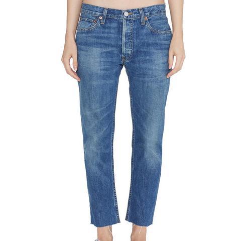 Relaxed Crop Rigid Medium 12 Jeans