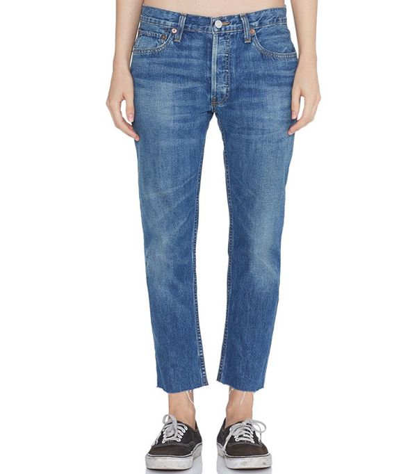 RE/Done Relaxed Crop Rigid Medium 12 Jeans