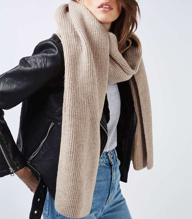 Topshop Soft Knitted Scarf