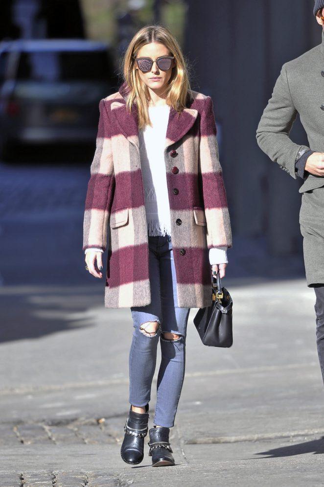 Olivia Palermo Le Specs Sunglasses Max & Co. Coat
