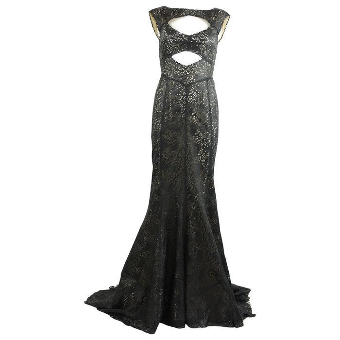 Tory Burch Leather Maxi Dress