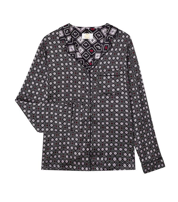 Yolke Ace of Spades Silk Shirt
