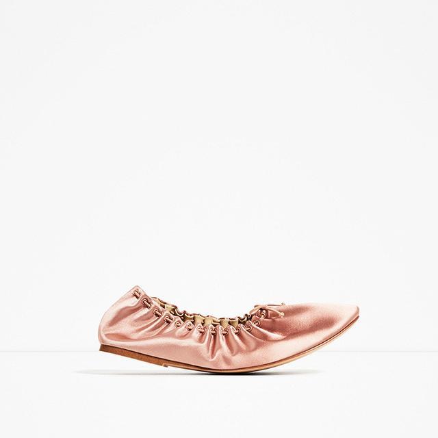Zara Soft Sateen Ballerinas