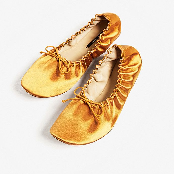 Zara Soft Sateen Ballerinas
