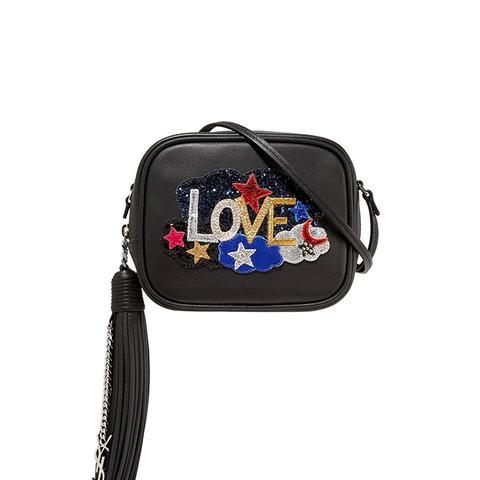 Monogramme Blogger Appliquéd Leather Shoulder Bag