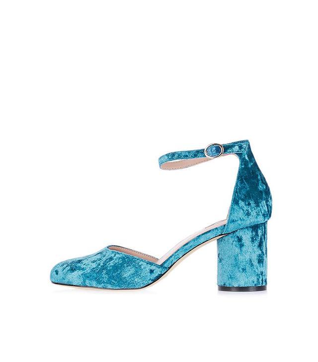 Topshop Jagga Velvet Mid Shoes