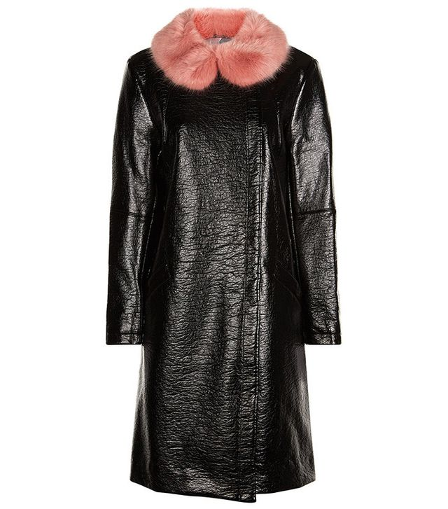 Shrimps Black Faux Leather Hokus Coat