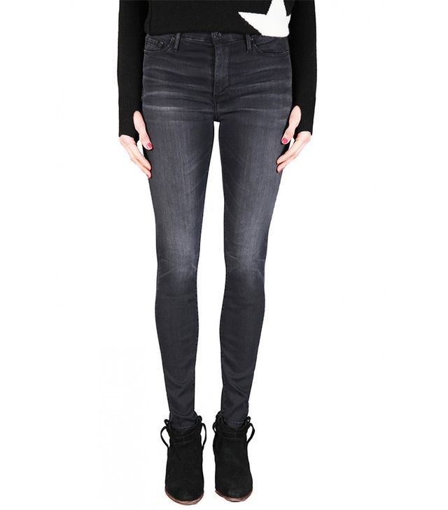 Black Orchid Gisele High Rise Super Skinny in Obsidian