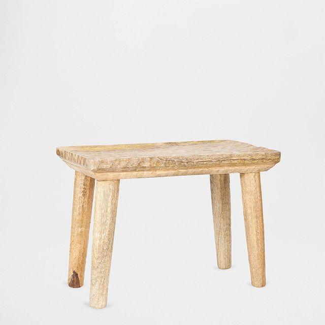 Zara Home Rectangular Carved Stool