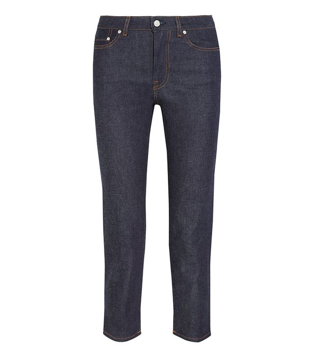 Acne Studios Row Raw Cropped Jeans