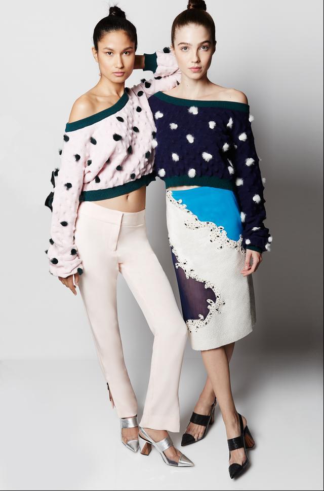 Prabal Gurung x Pokémon Cropped Spiky Sweater ($1450), Slim-Fit Trousers ($895), and Cropped Spiky Sweater ($1450)