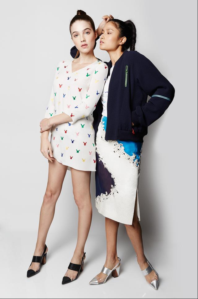 Prabal Gurung x Pokémon Embroidered Dress ($1395) and Zipped Bomber Jacket ($1595)