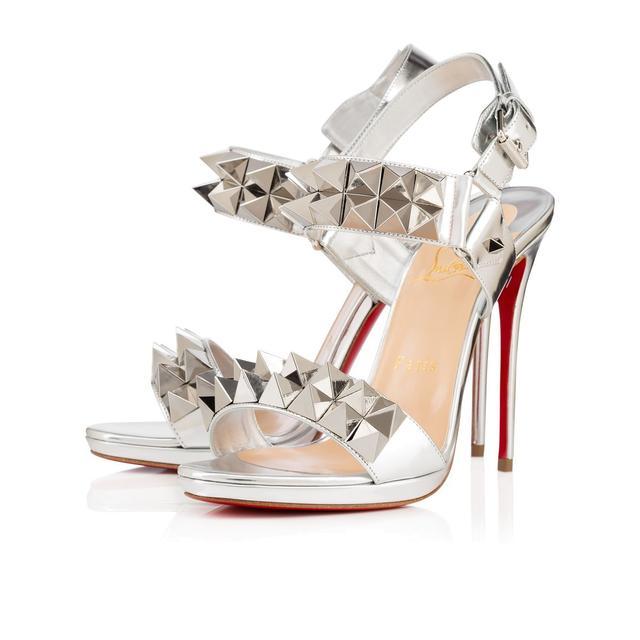 Christian Louboutin Miziggoo 120 Silver Heels