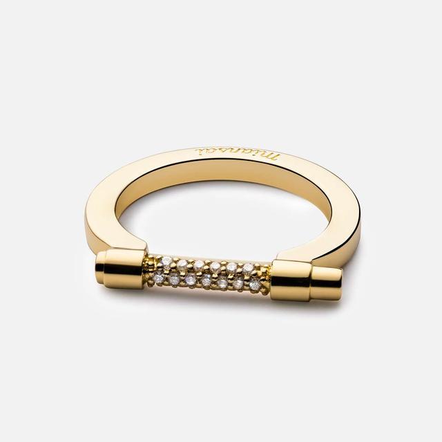 Miansai Thin Modern Screw Cuff Diamond Ring