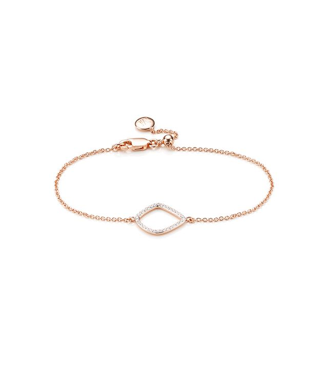 Monica Vinader Riva Diamond Kite Chain Bracelet