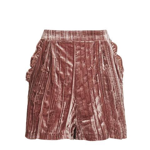 Velvet Frill Shorts
