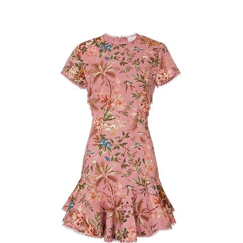 Lattice Floral Dress