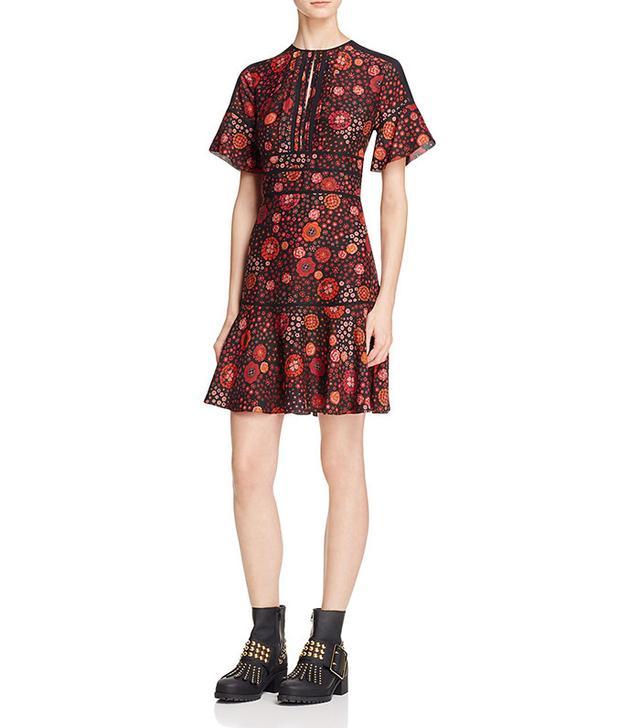 Burberry Ava Floral Silk Dress