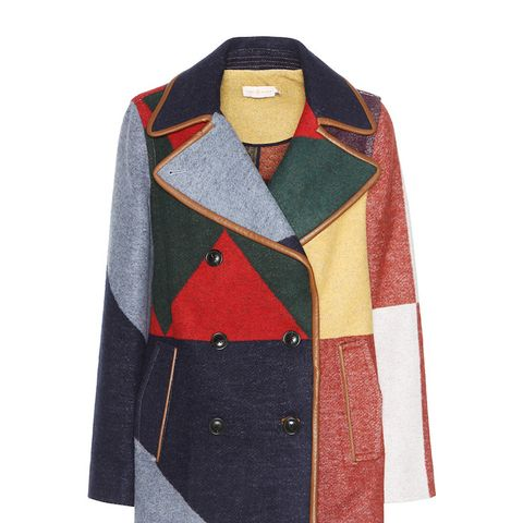 Cheval Wool-Blend Peacoat