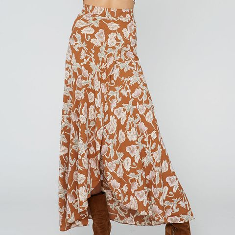 Wrap It Up Skirt in Copper Poppy