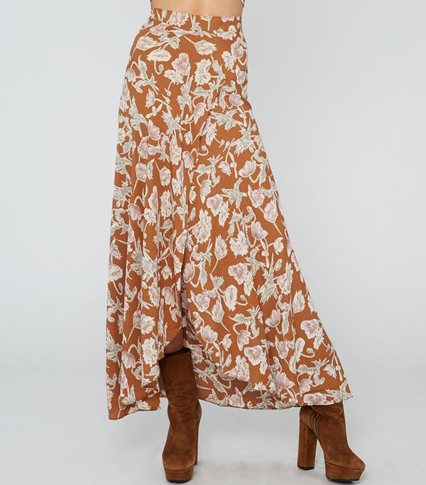Flynn Skye Wrap It Up Skirt in Copper Poppy