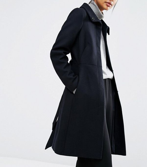 Warehouse Longline Belted Coat