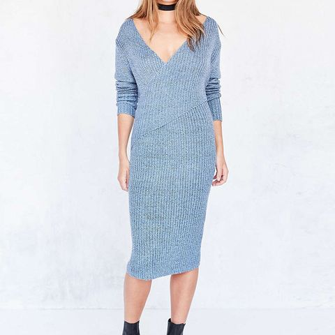 Make a Move Ribbed Knit Midi Dress