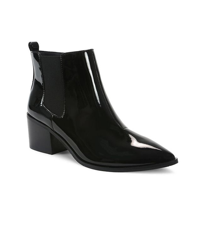Tahari Ranch Patent Leather Ankle Boots