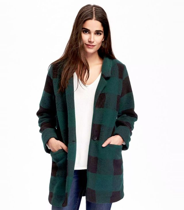 Old Navy Brushed Stand-Collar Coat