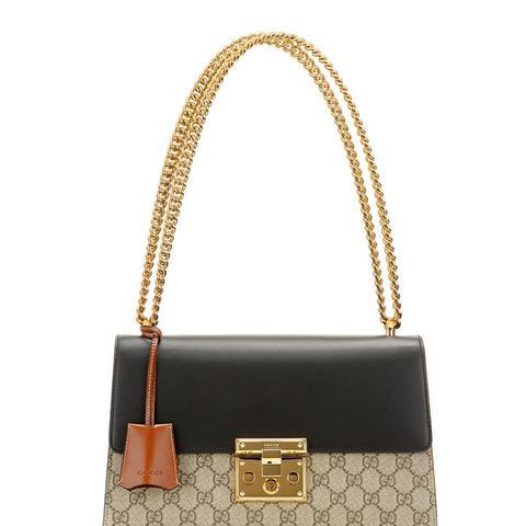 Padlock GG Supreme Medium Leather And Coated Canvas Shoulder Bag