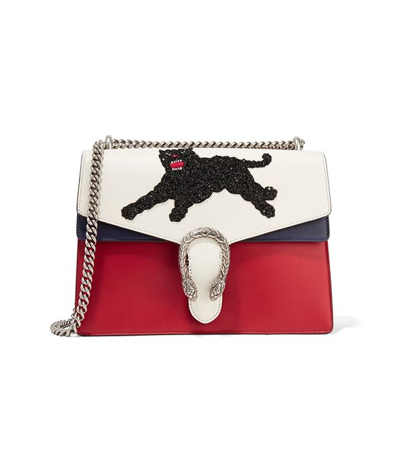 Gucci Dionysus Medium Appliquéd Leather Shoulder Bag