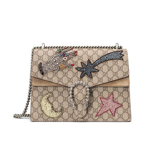 Dionysus Embroidered Shoulder Bag