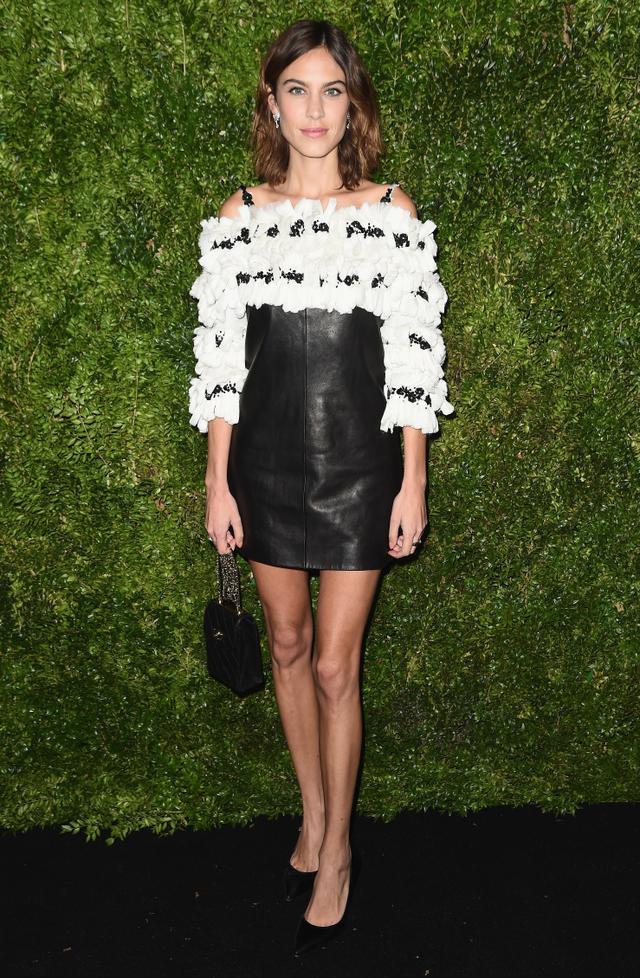 On Alexa Chung:Chanel Pre-Fall 2016 dress.