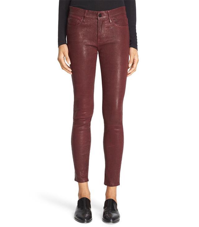 Frame Leather Skinny Pants