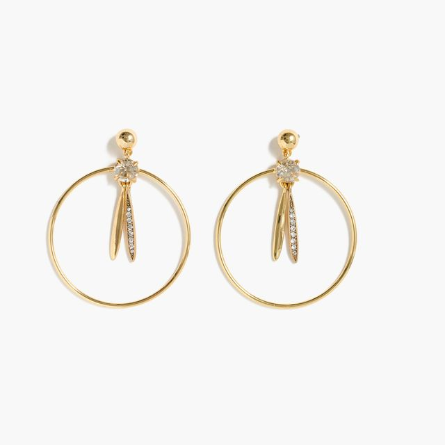 J.Crew Pendulum Hoop Earrings