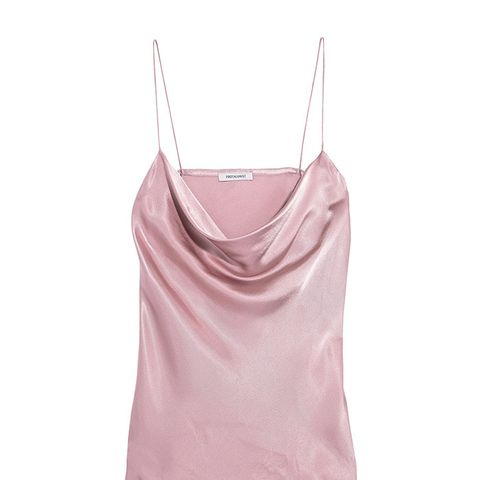 Draped Hammered-Charmeuse Camisole