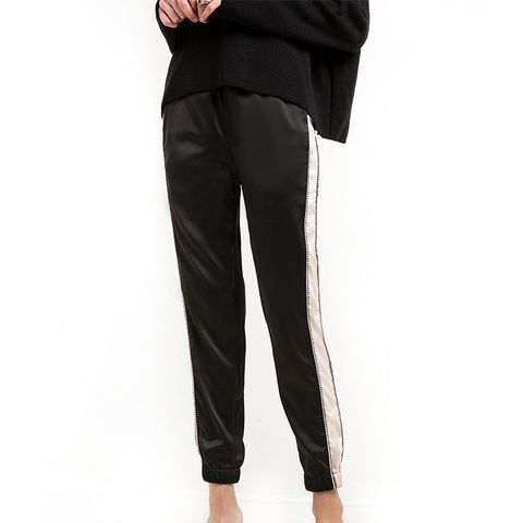 Silver Side Stripe Sweatpants