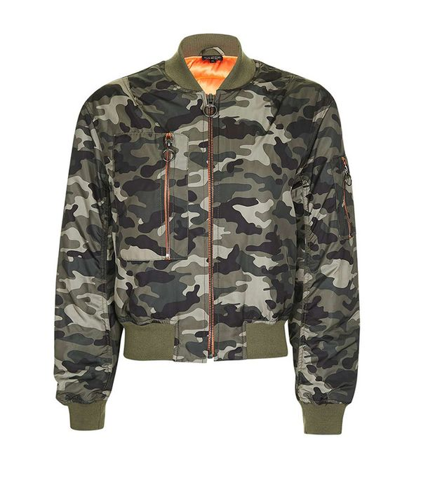Topshop Camo Bomber Jacket