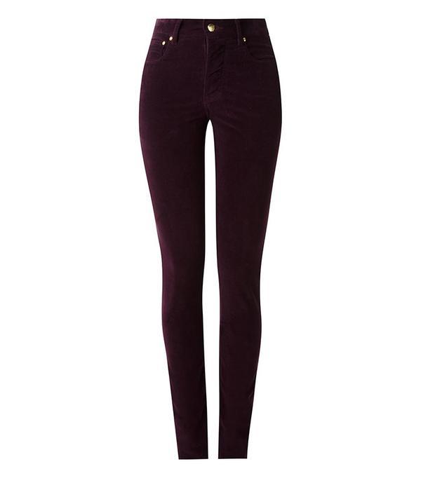 Amapô High Waisted Velvet Skinny Trousers