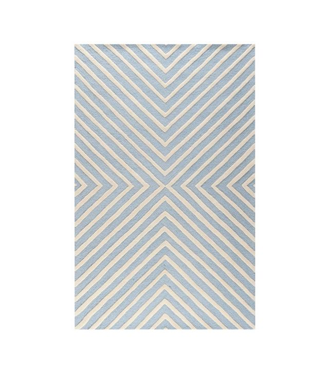 One Kings Lane Yvaine Rug, Sky/Ivory