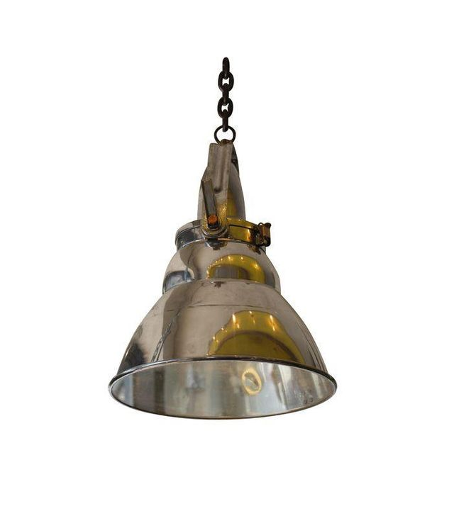 Chairish Vintage Industrial Aluminum & Steel Pendant Lamp