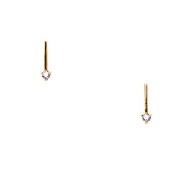 Wwake Tonal One-Step Bar Earrings
