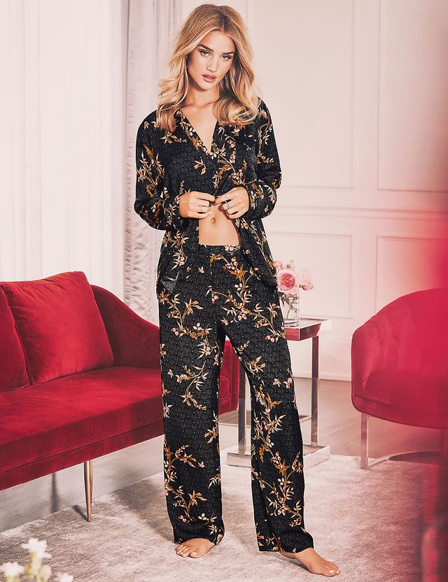 Rosie for Autograph Floral Print Rever Collar Pajamas