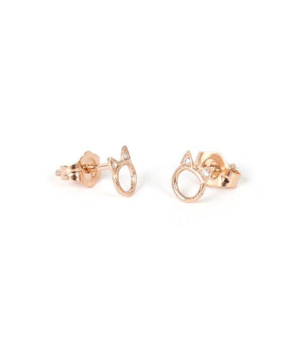Hortense Choupette Earring Single in Rose Gold