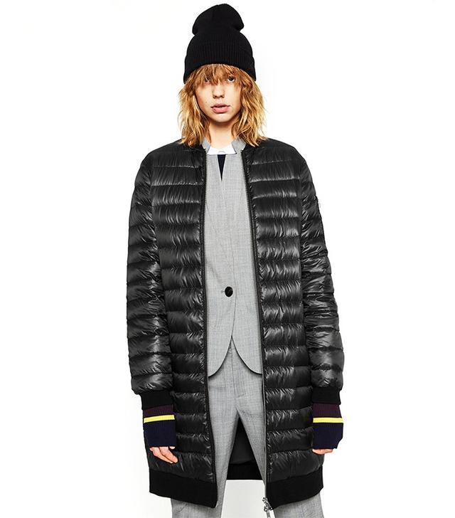 Zara Neon Quilted Anorak