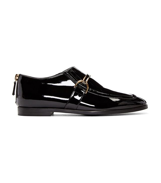Stella McCartney Black Patent Buckle Loafer